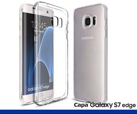 Capa de Silicone Transparente para Galaxy S7 Edge.