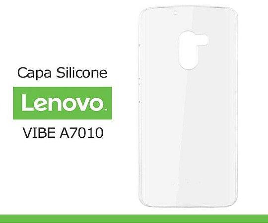 Capa de Silicone Transparente para Lenovo Vibe