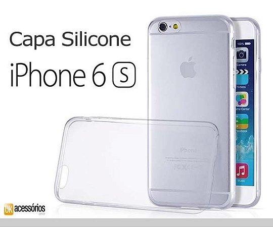 Capa de Silicone Transparente para iPhone 6s