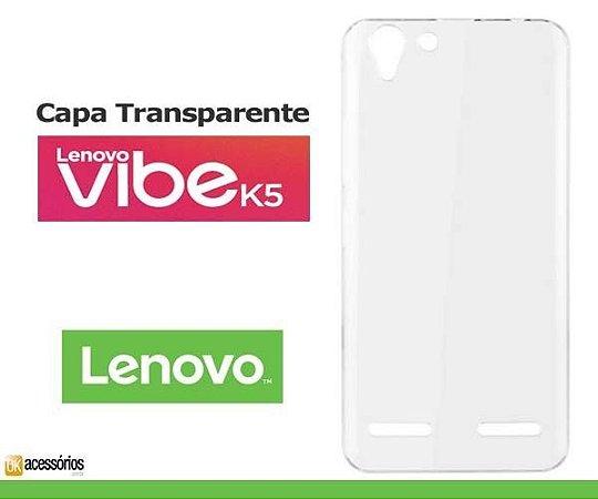 Capa de Silicone Transparente para Lenovo Vibe K5