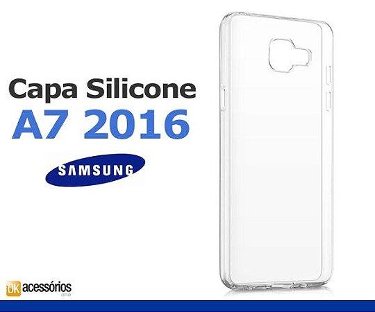 Capa de Silicone Transparente para Galaxy A7 2016