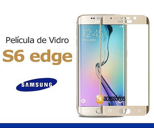 Película de Vidro para Galaxy S6 Edge Dourada