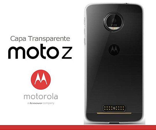 Capa de Silicone Transparente para Moto Z