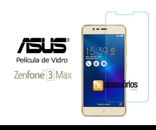 Película de Vidro para Zenfone 3 Max