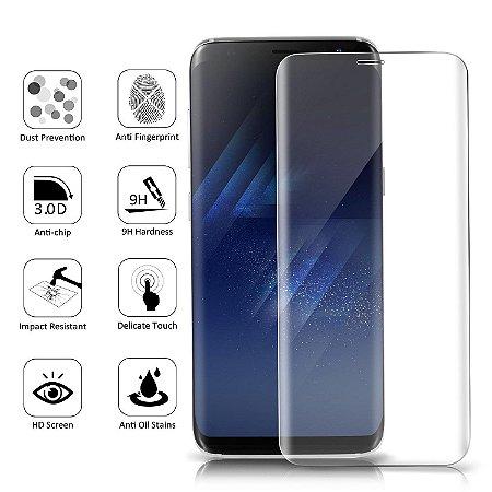 Película de Vidro para Galaxy S8 Cobre toda lente.