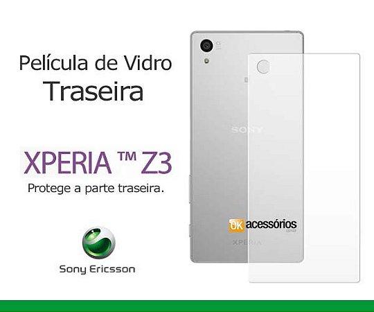 Película de Vidro Traseira para Xperia Z3.