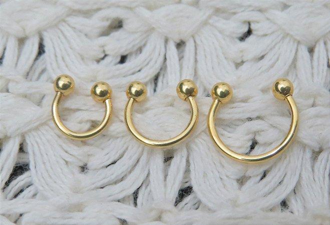 Trio de piercings indianos fakes - REF F011