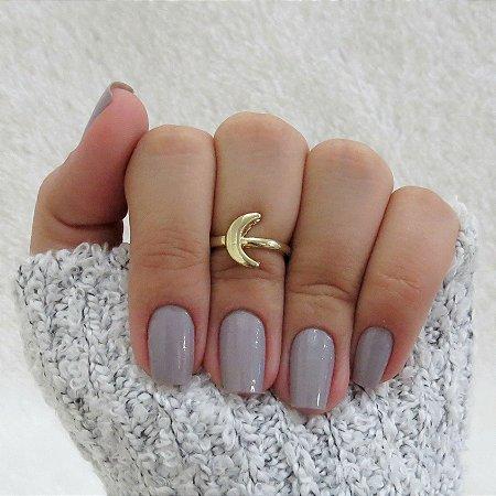 Anel de falange, lua, dourado - REF: F012