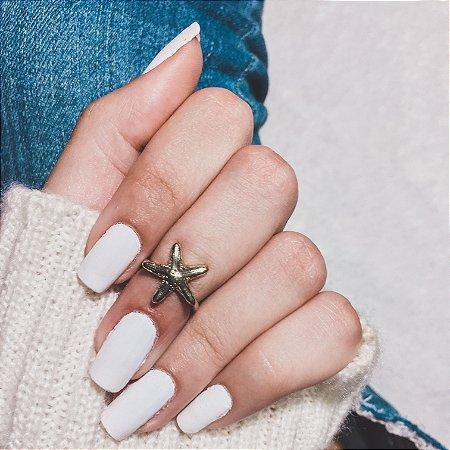 Anel de falange, estrela do mar, dourado - REF F016