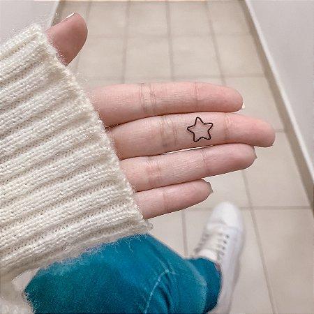 Piercing de furo, estrela, preto - REF X001