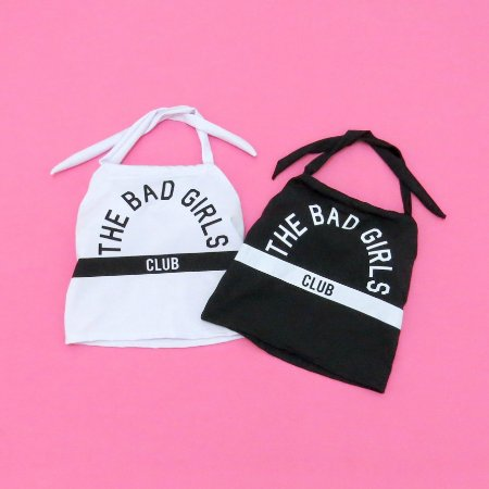 Cropped the bad girl club, com bojo, tam. único, cores diversas