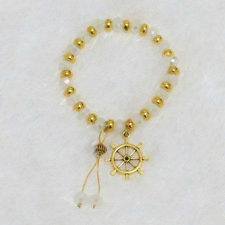 Pulseira VIBE, dourada, leme - REF P150