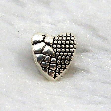 Berloque coração texturizado
