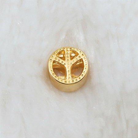Berloque passante, símbolo da paz, dourado