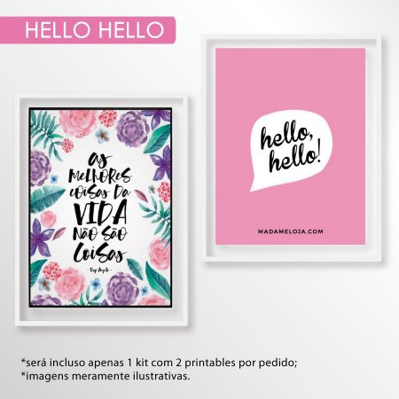 Kit printables hello hello - 10x15cm