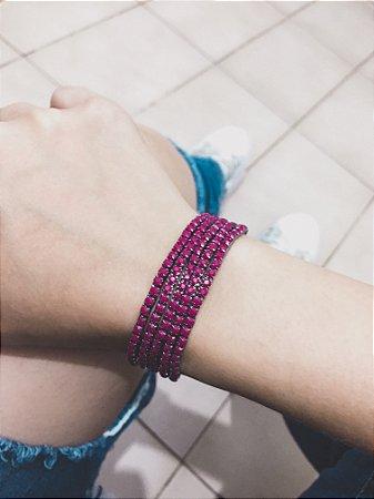_Conjunto de pulseiras star, 5 peças, marsala - REF P407