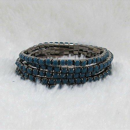 Conjunto de pulseiras star, 5 peças, azul - REF P171