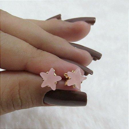 Brinco mini doce inverno, estrela, rose - REF B143