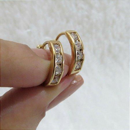 Brinco mini argola, dourada - REF B146