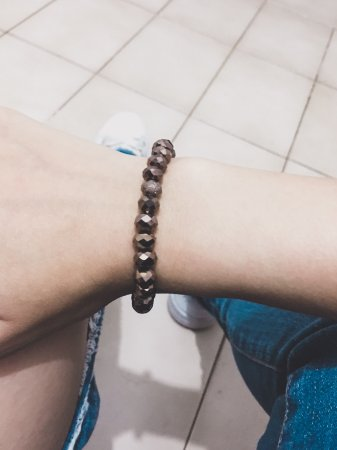 Pulseira crystal, bold, coffee - REF P430