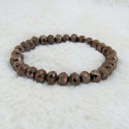 Pulseira crystal, bold, coffee - REF P187