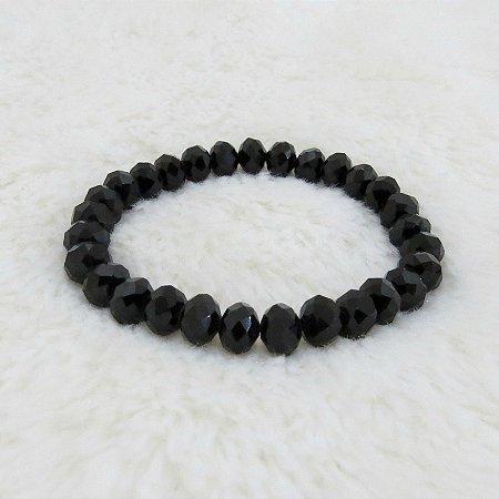 Pulseira crystal, bold, black - REF P189