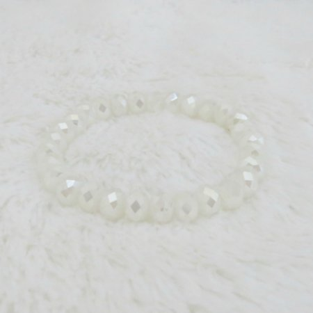 Pulseira crystal, bold, off white - REF P193