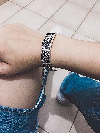 _Pulseira bracelete tai, prateada - REF P437