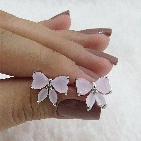 Brinco new collection, laço rosa - REF B220