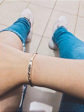 Pulseira bracelete bohemia, love, bold, dourado - REF P488