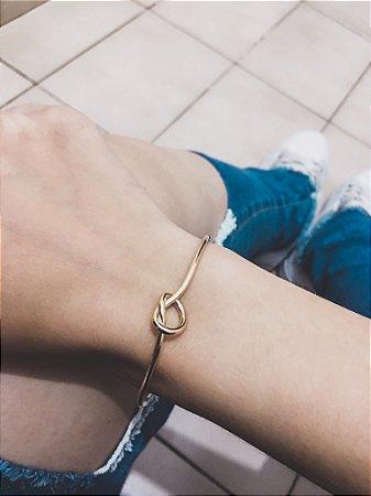Pulseira bracelete bohemia, nó, dourado - REF P489