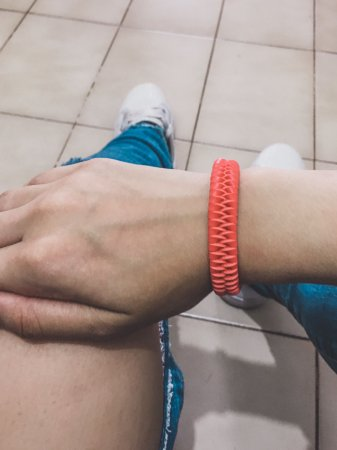 _Pulseira braid, courinho, coral - REF P512