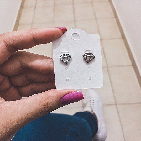 Brinco mini, diamond, prateado - REF B293