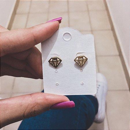 Brinco mini, calli, diamond, dourado - REF B312