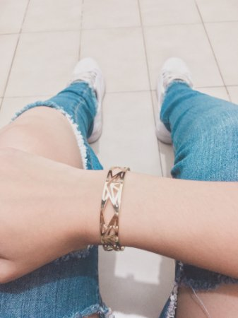 Pulseira bracelete, egíto, dourada - REF P553