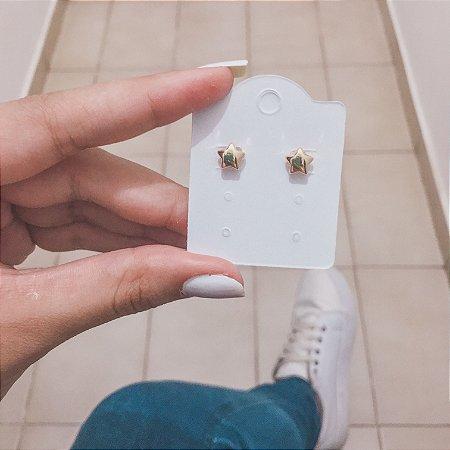 Brinco mini, estrela, dourado - REF B357