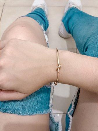 Pulseira bracelete bohemia, fio, dourado - REF P618