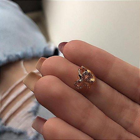 Piercing de furo, argolinha, laço, dourado - REF X157
