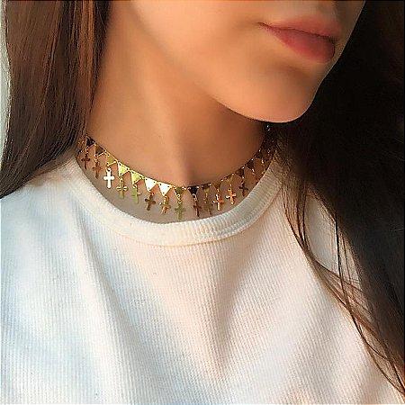 Choker afrodite, cool, dourada