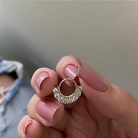 Piercing de furo, argolinha, vibe, dourado - REF X198