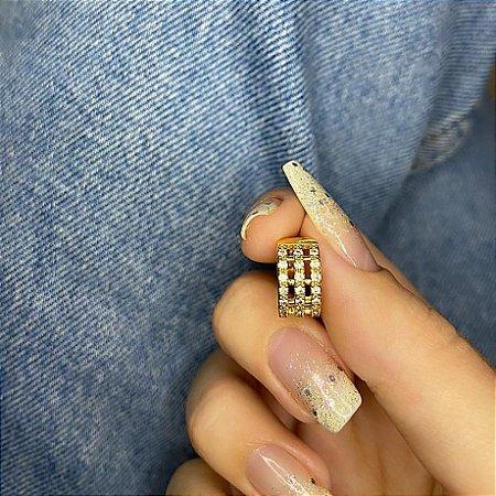 Piercing fake, listra bold, dourado - REF X226