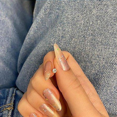 Piercing de furo, pino, brilho slim, dourado - REF X244