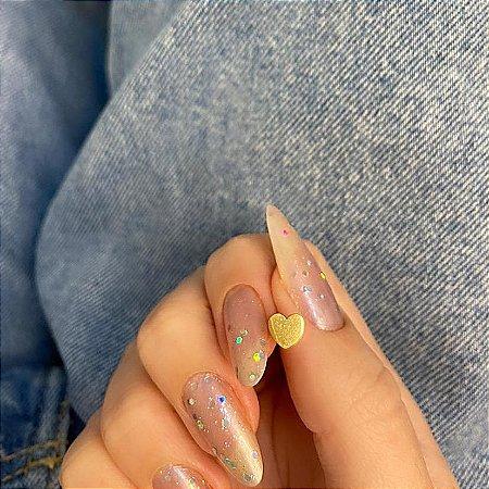 Piercing de furo, pino, love new collection, dourado - REF X243