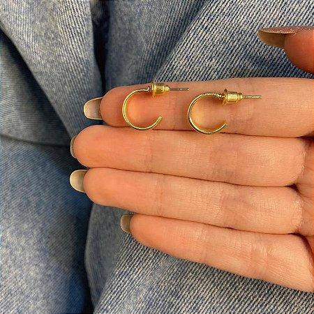 Brinco mini argolinha, letícia, glow, dourada - REF B964