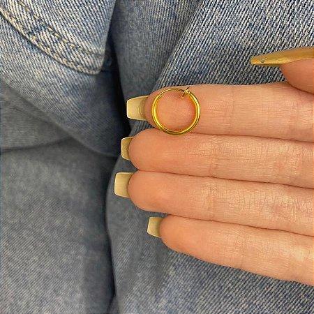 Piercing fake, régis, 1cm, dourado - REF X268