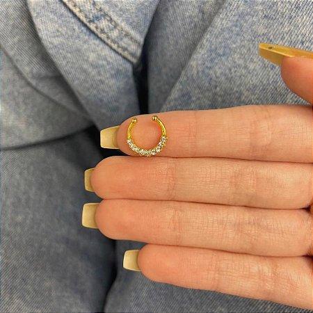 Piercing fake, jack, septo, oslo, dourado - REF X271