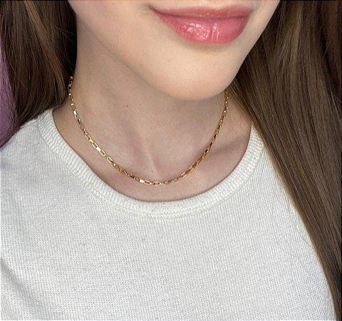 Colar curto, tuc, irmandade, dourado - C199