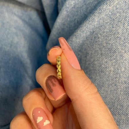 Piercing fake, letícia, luma, dourado- REF X316
