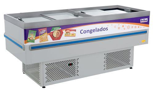 ILHA CONSERVADOR E EXPOSITOR PARA CONGELADOS - INOX