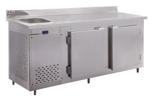 Balcão de Encosto refrigerado 2 portas c/ pia 1,90m